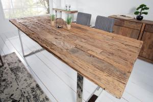 Masa dining maro din lemn si metal 100x200 cm Euphoria Barracuda Invicta Interior