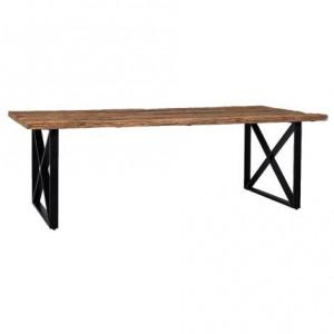 Masa dining maro/neagra din lemn si otel 100x180 cm Industrial Kensington Richmond Interiors