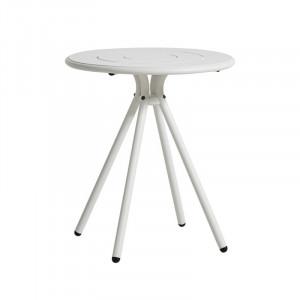 Masa dining pentru exterior alba din aluminiu 65 cm Ray Woud