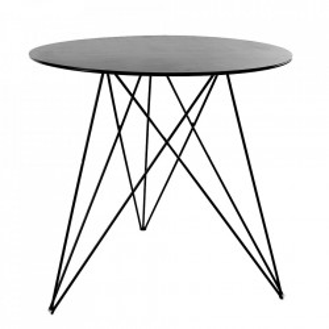 Masa neagra din metal pentru cafea 75 cm Sticchite Serax
