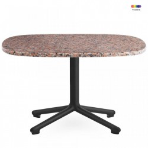 Masa neagra/roz din aluminiu si granit 67,5x66 cm pentru cafea Era Black Alu Normann Copenhagen