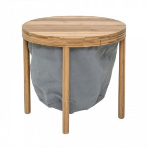 Masa pentru cafea rotunda din bambus 50x45 cm Bloomingville