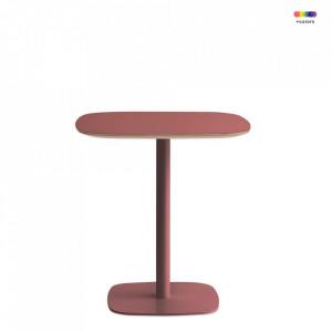 Masa rosie din otel si linoleum 70x70 cm pentru cafea Form Normann Copenhagen