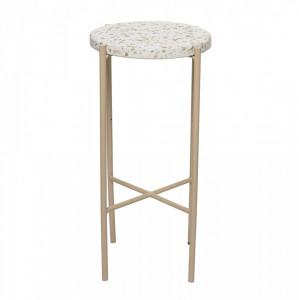 Masa rotunda din ciment cu picioare din metal 27,5x50 cm Bloomingville