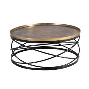 Masuta de cafea maro bronz/neagra din metal 90 cm Anna Giner y Colomer