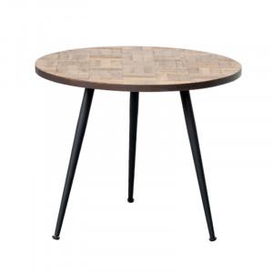 Masuta din lemn si fier pentru cafea 55 cm Lexington Lifestyle Home Collection