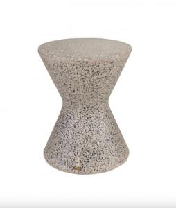 Masuta gri din beton 40 cm Diabolo Terrazzo Versmissen