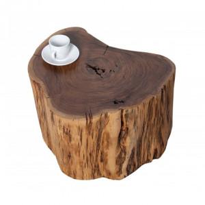 Masuta maro din lemn de salcam 45x50 cm Pure Invicta Interior