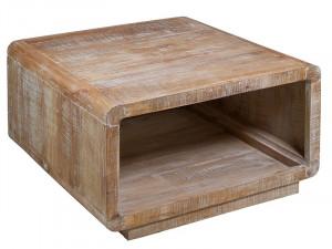 Masuta maro din lemn mindi pentru cafea 90x90 cm Curvy Santiago Pons