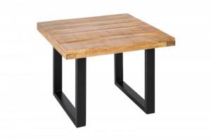 Masuta maro/neagra din lemn si metal pentru cafea 60x60 cm Gustavo Mango Invicta Interior