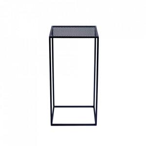 Masuta neagra din metal 30x30 cm Matrix Custom Form