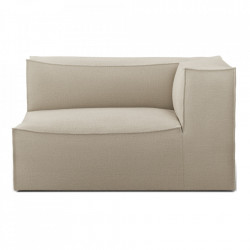 Modul canapea bej din in 138 cm Catena Armrest Right Natural Ferm Living