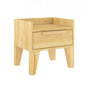 Noptiera maro din lemn de pin Agava Skandica