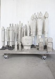 Obiect decorativ Stone face XL Love Warriors
