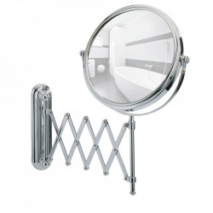 Oglinda cosmetica extensibila rotunda argintie din metal 38x50 cm Telescope Exclusive Wenko