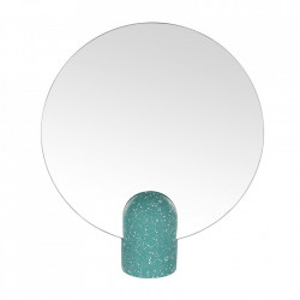 Oglinda de masa rotunda verde din terrazzo 30x34 cm Muzz Zago