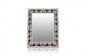 Oglinda dreptunghiulara argintie cu rama din lemn 124x157 cm Baroque Versmissen