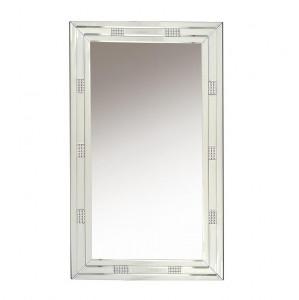 Oglinda dreptunghiulara argintie din sticla 70x120 cm Moon Giner y Colomer