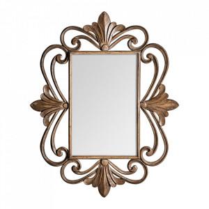 Oglinda dreptunghiulara aurie din lemn 120x150 cm Irene Vical Home
