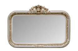 Oglinda dreptunghiulara crem cu rama din lemn 145x99 cm Baroque Versmissen