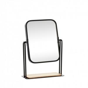 Oglinda dreptunghiulara cu rama neagra din metal 19x8x27 cm Hubsch