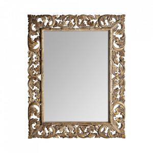 Oglinda dreptunghiulara maro din lemn 140x180 cm Harllet Vical Home