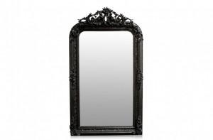 Oglinda dreptunghiulara neagra cu rama din lemn 88x158 cm Baroque Versmissen
