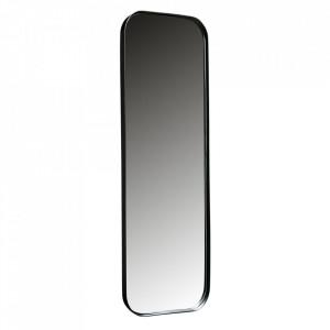 Oglinda dreptunghiulara neagra din metal pentru podea 40x170 cm Doutzen Woood