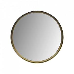 Oglinda rotunda aurie din aluminiu si fier 50 cm Fletcher HSM Collection