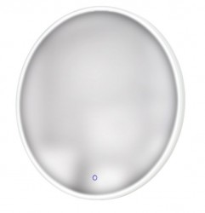 Oglinda rotunda cu LED argintie din metal 80 cm Illuminated Mirror Maxlight