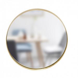 Oglinda rotunda din sticla si alama 40 cm Hubsch