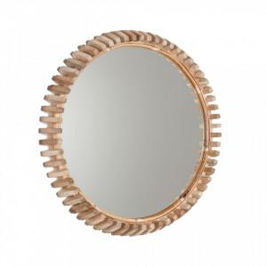 Oglinda rotunda maro din lemn 52 cm Porter La Forma