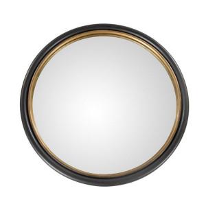 Oglinda rotunda neagra din lemn 95 cm Thor Zago