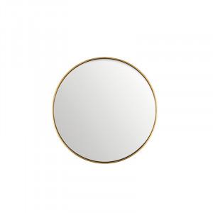 Oglinda rotunda neagra din MDF si sticla 40 cm Antique Gold Lifestyle Home Collection