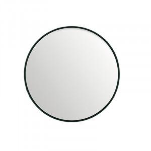 Oglinda rotunda neagra din MDF si sticla 40 cm Black Lifestyle Home Collection