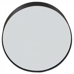 Oglinda rotunda neagra din metal 59 cm Woody Zago