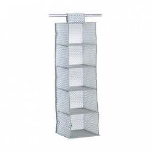 Organizator gri/alb din fleece Hanging Storage White Zeller