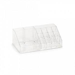 Organizator transparent din plastic Cosmetic Sixteen Zeller