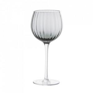 Pahar de vin gri din sticla 420 ml Astrid Bloomingville