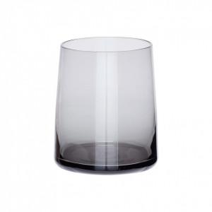 Pahar gri din sticla 8x10 cm Posy Hubsch