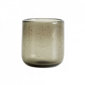 Pahar gri fum din sticla 300 ml Maroc Nordal