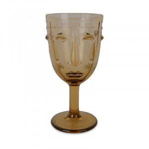 Pahar maro chihlimbar din sticla 8x16,5 cm Amber Opjet Paris