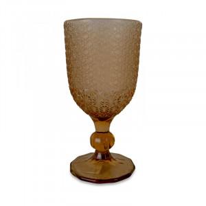 Pahar maro chihlimbar din sticla 8x16,5 cm Lina Opjet Paris