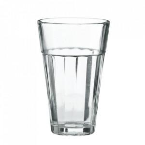 Pahar transparent din sticla 6x9 cm Aqua Madam Stoltz