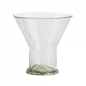 Pahar verde din sticla 9,8x10 cm Bubble House Doctor