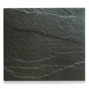 Panou antistropire gri antracit din sticla pentru perete 50x56 cm Slate Zeller
