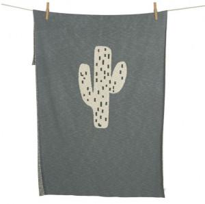 Patura din bumbac 100x160 cm Cactus Quax