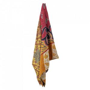 Patura multicolora din bumbac 220x220 cm Sari Bloomingville