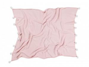 Patura roz din bumbac pentru copii 100x120 cm Bubbly Soft Pink Lorena Canals