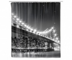 Perdea de dus cu LED 180x200 cm Brooklyn Bridge Wenko